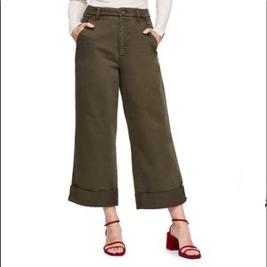 Free People On My Mind Wide Leg High Rise Pants